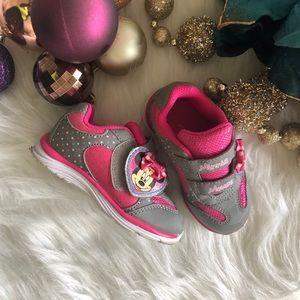Disney: Minnie Mouse pink and Grey Sneakers